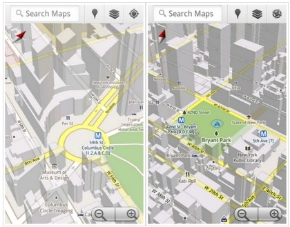 Google Maps 5.0 f�r Android