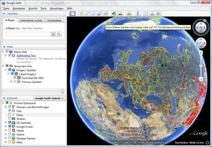 Neue Satellitenbilder für Google Earth & Maps