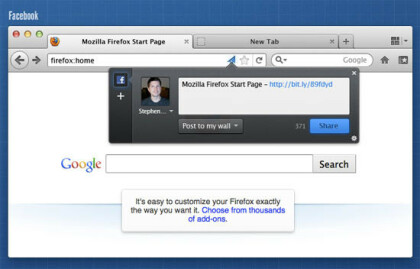 Mozilla Firefox 5.0 Design-Entwürfe