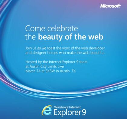 Internet Explorer 9 Einladung