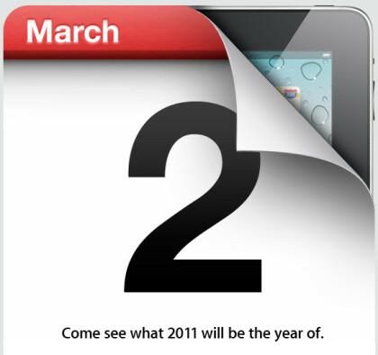 iPad 2 Presseeinladung