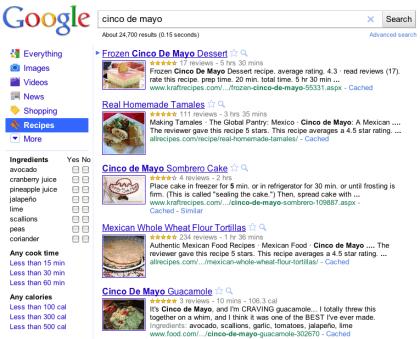 Google Rezeptsuche