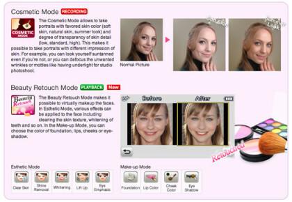 Beauty-Funktionen der Lumix FX77