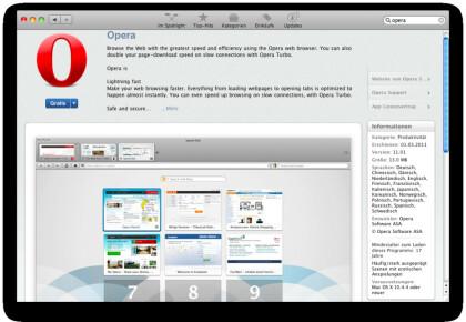 Opera im Mac App Store