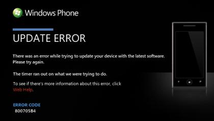 Windows Phone 7 Update-Fehler