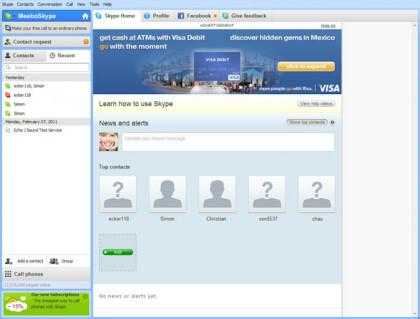 Skype mit Werbung