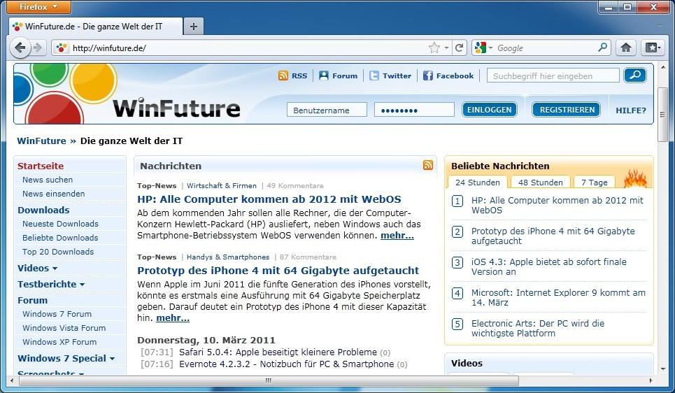 Firefox 4.0 RC