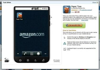 Amazon App Store Test Drive