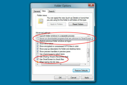 Windows 8 Smartscreen