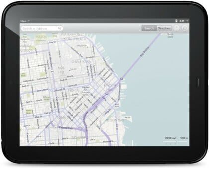 Bing Maps auf HP-Tablet