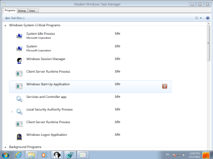 Task Manager in Windows 8 Build 7850