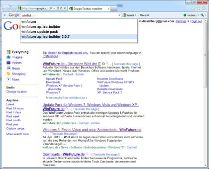 Google Toolbar 7.0