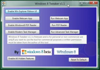 Windows 8 Tweaker