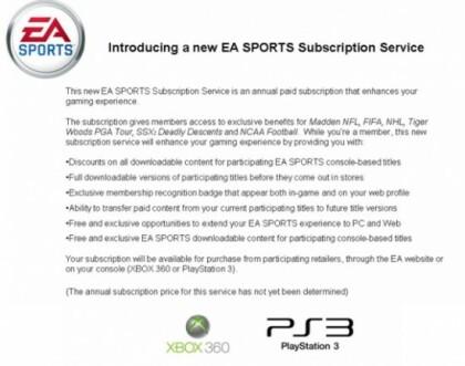 EA Sports Abo-Modell
