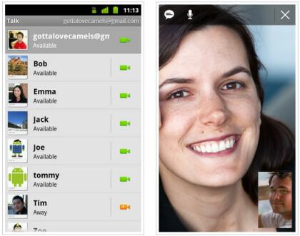 Videotelefonie mit Google Talk unter Android