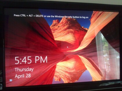 Windows 8: Lockscreen