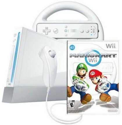 Nintendo Wii mit Mario Kart