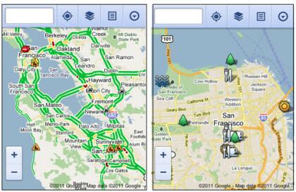 Mobile Web-Version von Google Maps