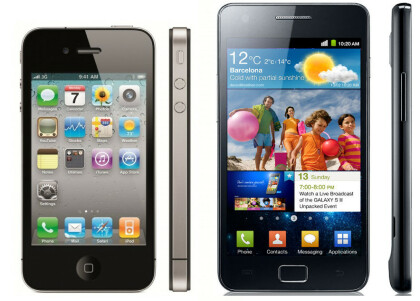 Vergleich iPhone 4 vs. Galaxy S2