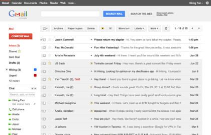 Neues Design für Google Mail