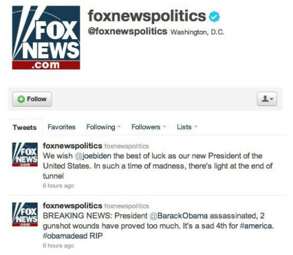 Foxnews Twitter Hack