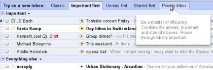 Posteingangsstile für Google Mail