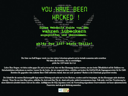 Stegner Website Deface