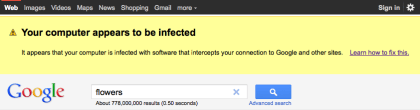 Google warnt vor Malware