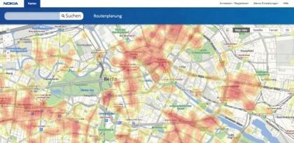 Nokia Karten Heat Maps