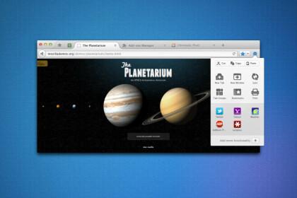 Design-Entwürfe für Firefox ab Version 9
