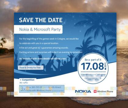 Presseeinladung von Nokia und Microsoft