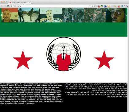 Ananymous hackt syrisches Verteidigungsministerium