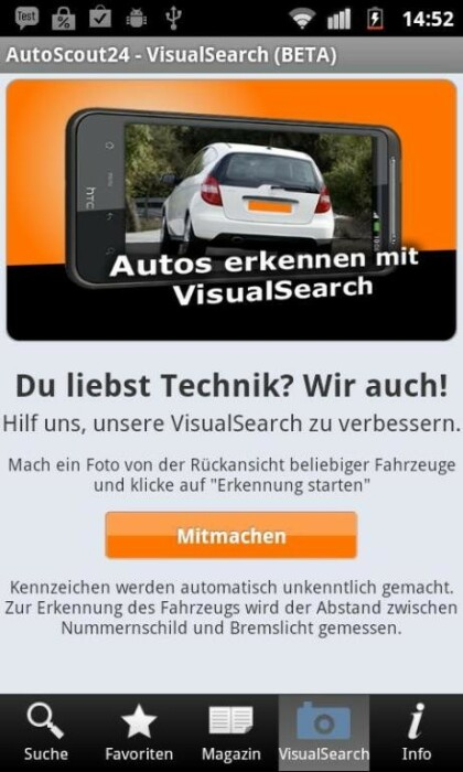 Visual Search von Autoscout24