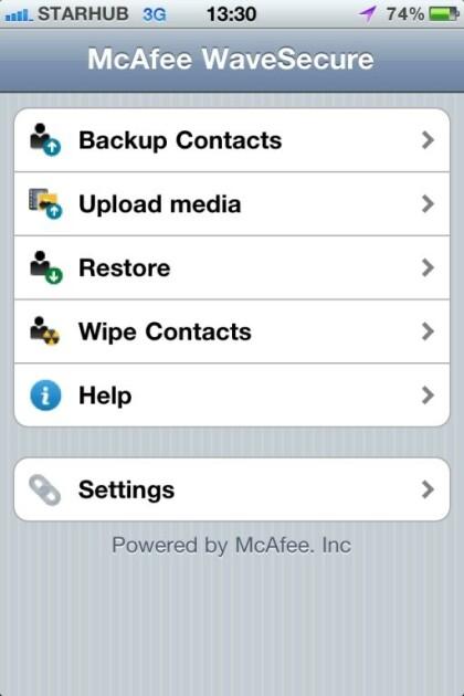 WaveSecure iOS