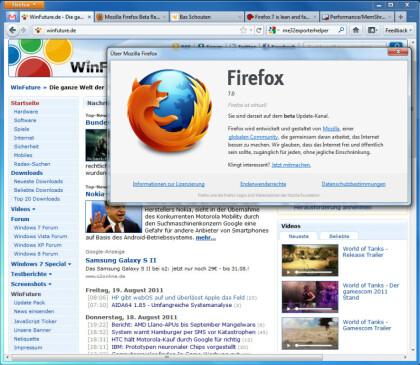Firefox 7 Beta