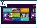 Windows 8 Startmenü im Metro-Design