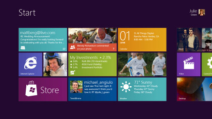 Windows 8 Startmen� im Metro-Design
