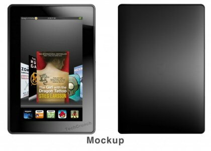 Mockup des Amazon-Tablets