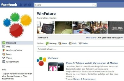 WinFuture bei Facebook