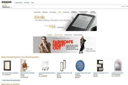Neue Amazon-Startseite