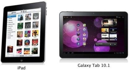 iPad 2 vs. Galaxy Tab 10.1