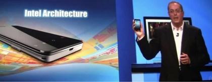 Android auf einem Smartphone mit Intel-CPU