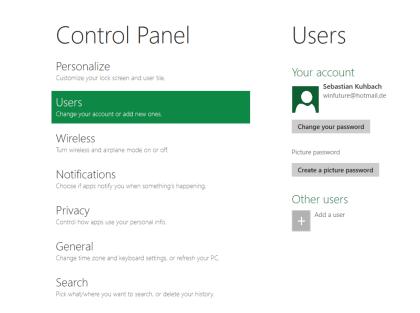 Windows 8 Bilder-Passwort
