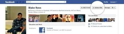 Facebook Abonnieren-Schaltfläche
