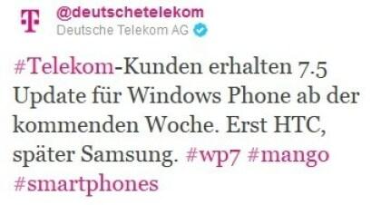 Telekom Mango Tweet