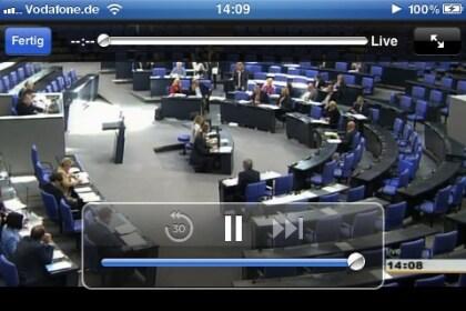 Bundestags-TV auf dem iPhone