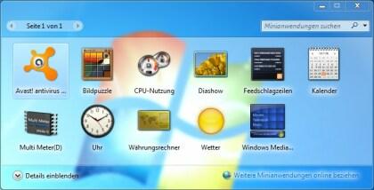 Windows Minianwendungen