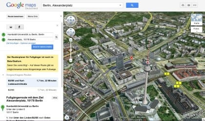 Google Maps - Helicopter View