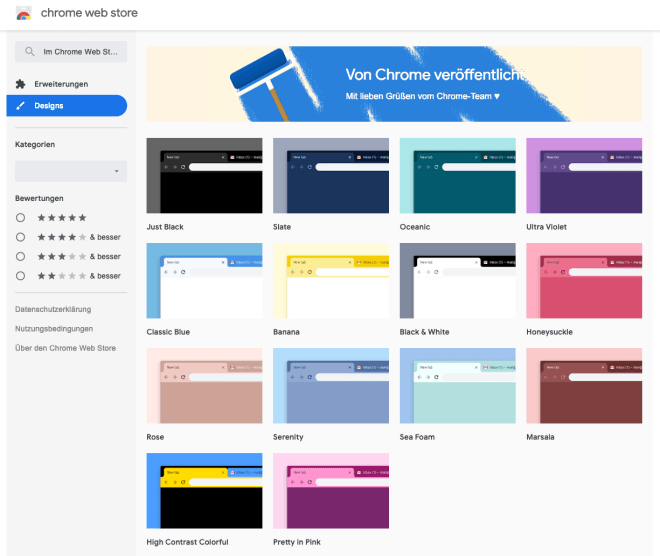 Chrome Webstore Re-Design