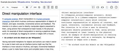 Wikipedia: WYSIWYG-Editor